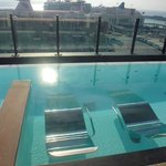 9th floor pool with view of cruise ships!