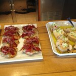 Tapas on the bar