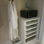 Wardrobe with safe and bath robe