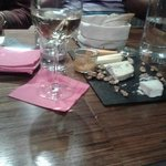 Cheese board at Winestone