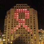 Hotel Nikko during Breast Cancer awareness month