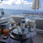 Breakfast with a stunning view.