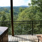 Hot Tub  and Deck View