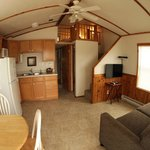 The San Marcos cottage is a one bedroom with a loft and sofa sleeper