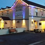 Begelly Arms at night