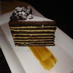 Marriott Seven Layer Chocolate Carmel Cake. Very tasty!