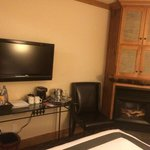 Double Bed Room with fireplace/tv