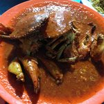 chilli crab, pretty good if you like spicy stuff