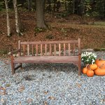 Bench on the inn grounds