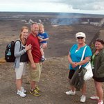 Our family at the crater