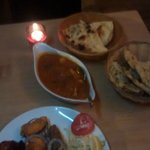 Chicken madras and naans