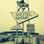 Route 66 Motel! Lots of neon!