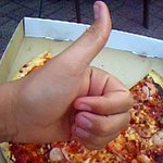 Thumbs up for pizza