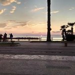 Sunset on the beach front Castellammare Di Stabia