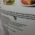 Bug on the menu