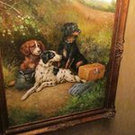 One of the many dog paintings
