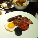 Irish breakfast- part of daily breakfast included in the room fee. Egg, tomato, blood sausage, b