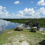 The smaller, 2 person airboat that we took, at the ramp.