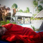 Nap by the pool. The waterfall was so relaxing.