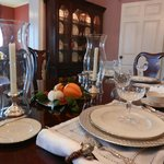 Autumn breakfast at the Grice-Fearing House B&B