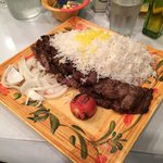 Lamb, Beef, and rice...DELICIOUS!