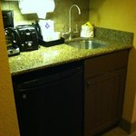 Little kitchenette area with coffee maker, etc