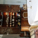 enormous china cabinet in the formal dining room