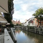 The picturesque Old Town of Ljubljana