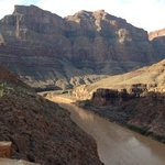 The Colorado River flowing in the Grand Canyon.