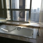 Nice bathroom, city view