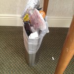 Hilton Tucson East useless wastebasket