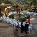 Lower Courtyard, site for our wedding reception