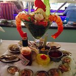 Seafood Tower!!! Excellent Lobster Ceviche!