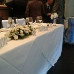 Our lovely top table