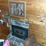 fireplace, wolf cabin