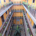 One of Hotel Morales' courtyards