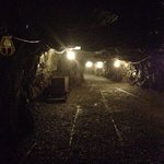 The start of the tour of the mine