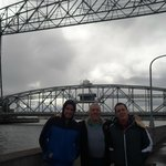 lift bridge lowered, my brother dad and I