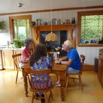 Kitchen and breakfast nook with Neil and Sally