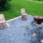 Seating area with fire pit