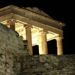 Looking up to the Acropolis