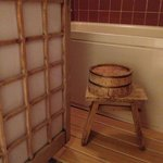 Traditional bathing requirements - Shower, stool, bucket and bath