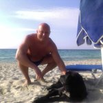 me and the dark angel on the beach