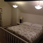 Mezzanine of the stable room lovely big comfy bed.