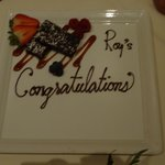 our congratulations plate