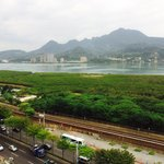 View from the room at Park City Hotel- Tamshui New Taipei City