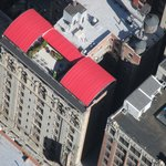 Roof top bar from the Empire State Building
