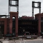 view of busch stadium from our Westin hotel window