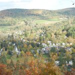 View of Woodstock VT from Mt Tom