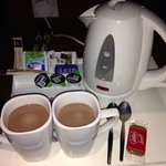 Hot choccie in room